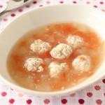 お豆腐だんごのトマト煮込み+(5)